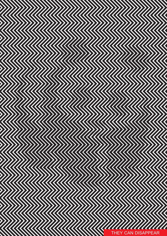 Mustavalkoista siksak-kuviota, joka muodostaa pandan.
